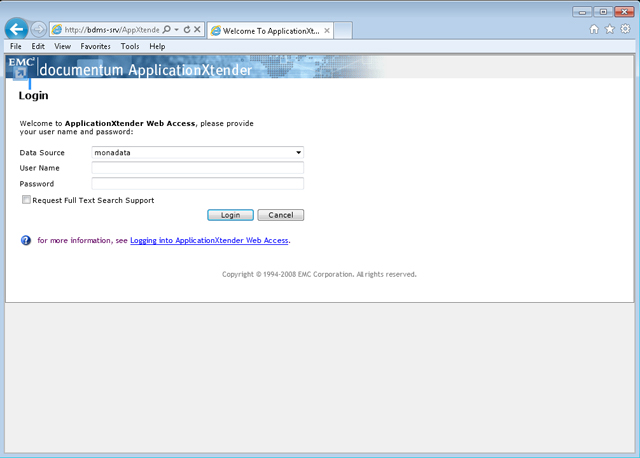 Banner Document Management System Screenshot
