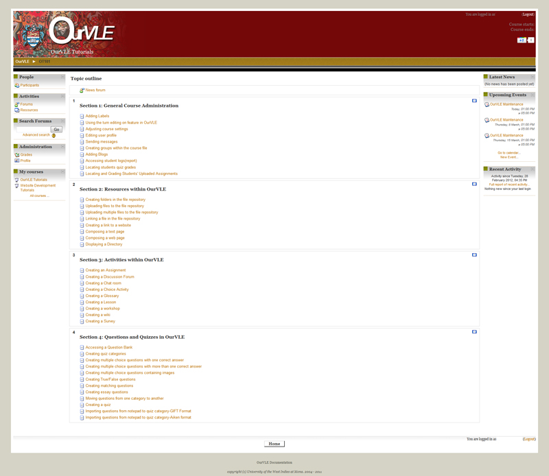 OURVLE Screenshot