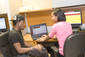 User Services helping a student