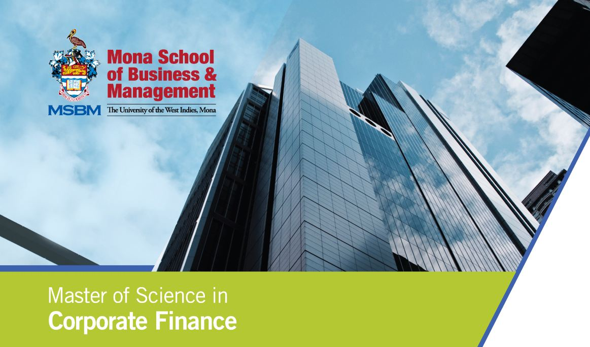 MSc  Corporate Finance | Mona School of Business & Management