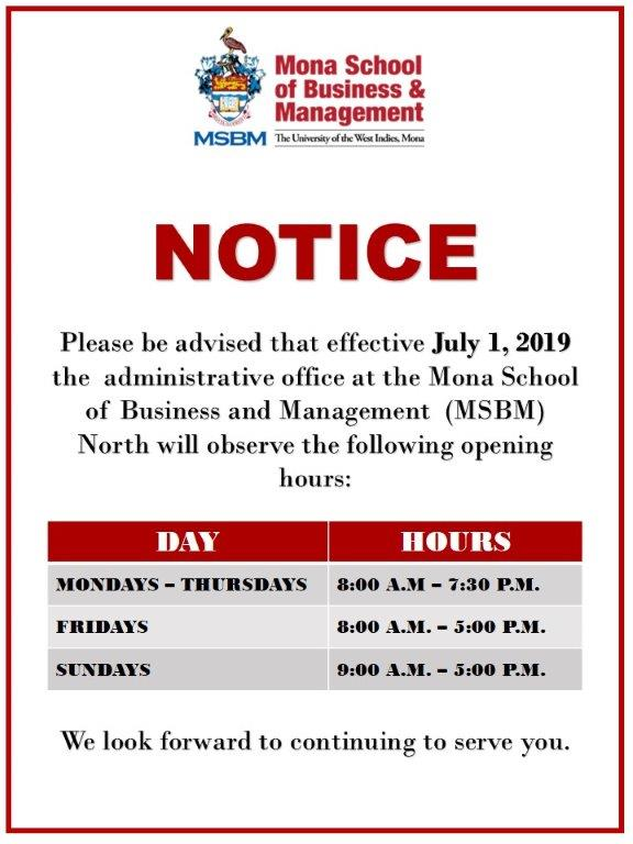 Mona School of Business & Management |