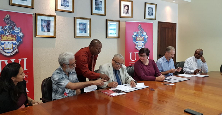 Collaborative Agreement Signing Ceremony between the UWI (Mona) and University of Freestate (South Africa) - 2018