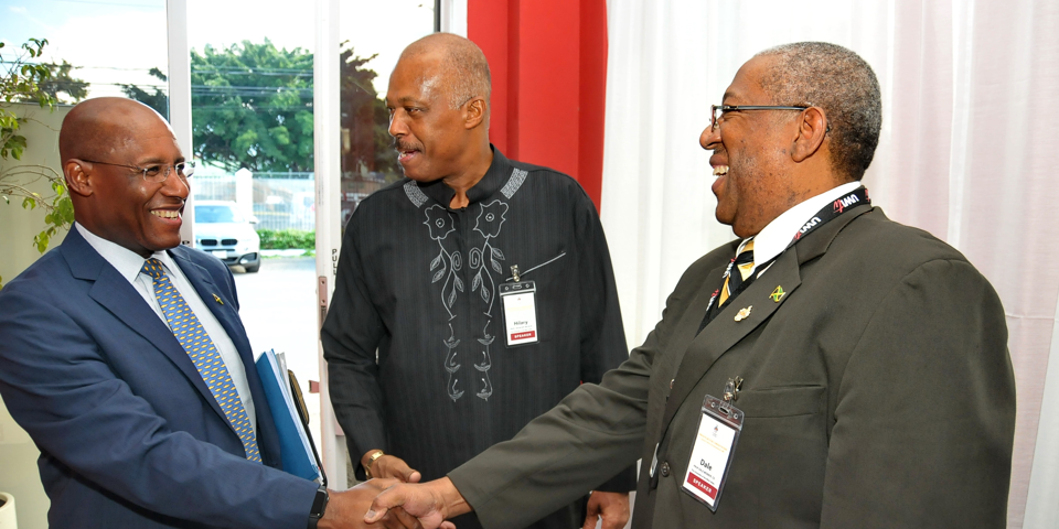 The Principal with Sir Hilary Beckles