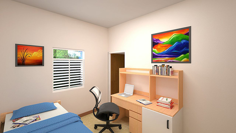 New rooms at the new hall of residence