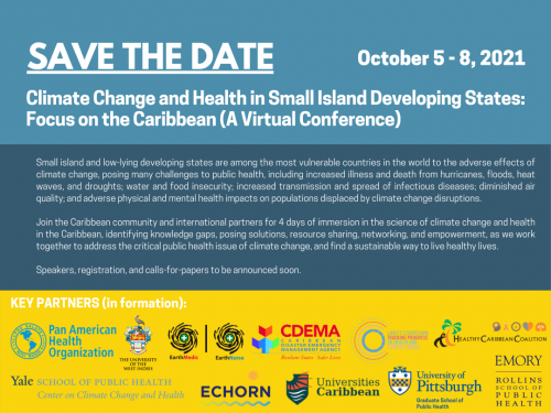 Climate change and Health in Small Island Developing States Flyer