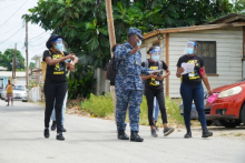 Some of the students in the field during Operation Seek and Save