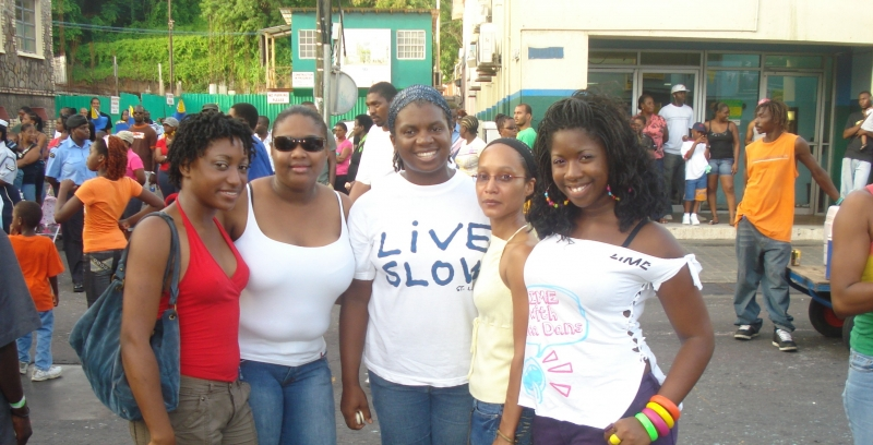 Four Interns in St. Vincent and the Grenadines